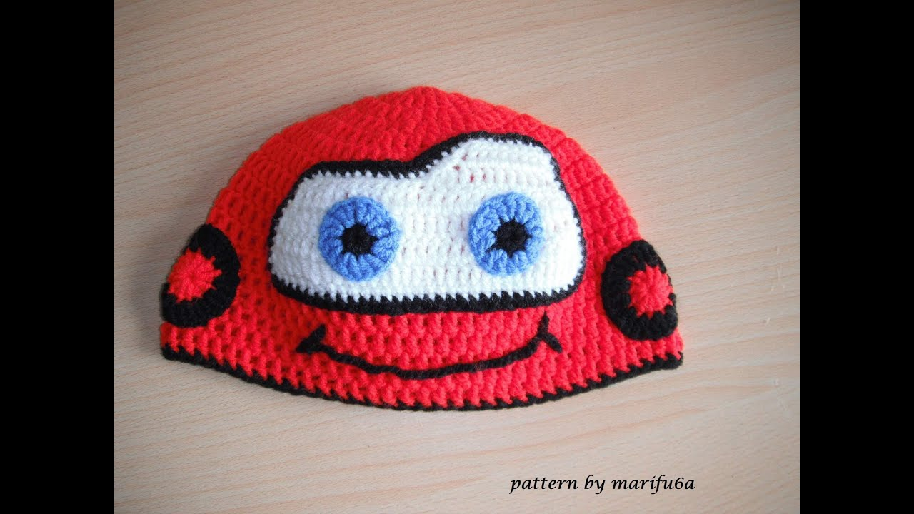 Free Crochet Patterns For Your Car : how to crochet hat McQueen car free pattern tutorial all ...