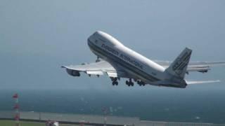Evergreen International Airlines Boeing 747-200 N489EV TAKE-OFF CHUBU Airport,JAPAN 2011.07.10