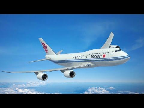 Air China Boeing 747-8 Premium Economy Class | CA981 | BEIJING - NEW YORK | North Pole Route