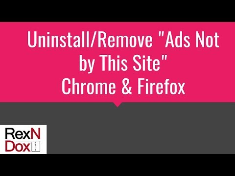 How to Uninstall/Remove Ads Not by this Site - Virus Removal
