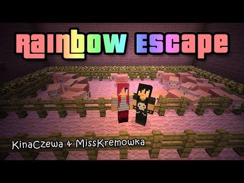 Oppa parkour stajl - Rainbow Escape #1 [MissKremowka & Kinaczewa]