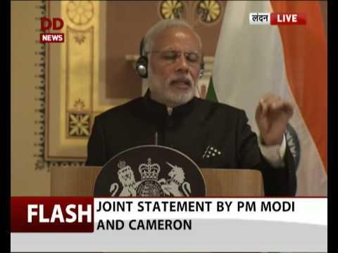 PM Modi, British PM Cameron's joint press confrence