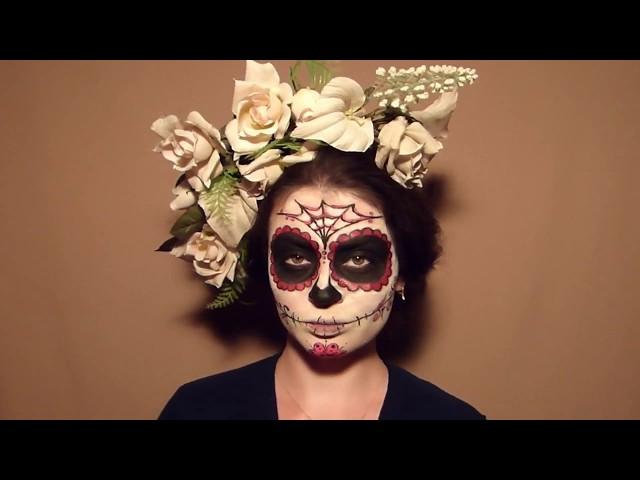 Макияж на Хэллоуин. Сахарный череп - itissite.com
