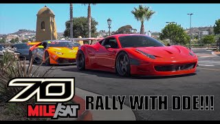 INSANE FERRARI 458 GT3 TAKES OVER 70MILE SATURDAY RALLY WITH DAILY DRIVEN EXOTICS! SUPER CAR HEAVEN!