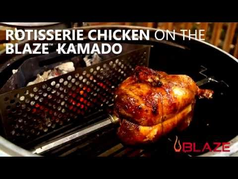 How-To Make Rotisserie Chicken on The Blaze Kamado Charcoal Grill | BBQGuys.com