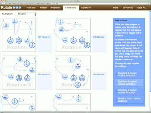 www.rotate123.com Automatic Volleyball Rotation and Lineup Generator, ...