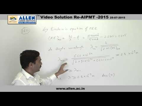 AIPMT 2015 Re-Exam Physics Solution – Q. No. 160 (Paper Code-A)