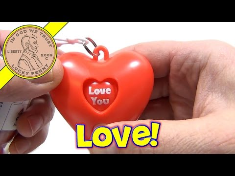 Spinning Heart Clip On Bubble Gum Tube - Valentine's Candy Series