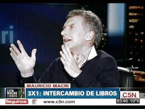 Intercambio de Libros con Mauricio Macri