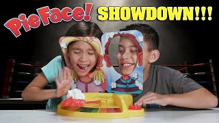 PIE FACE SHOWDOWN!!! Whipped Cream CHALLENGE!