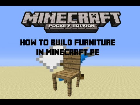 How to build Furniture in Minecraft Pe