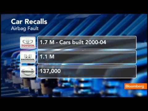Toyota, Honda, Nissan Issue Massive Auto Recall