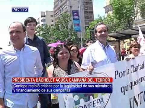 Presidenta Bachelet acusó existencia de campaña del terror