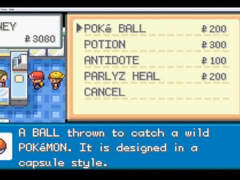 how to get any item in pokemon firered