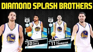 DIAMOND KLAY THOMPSON AND CURRY DROPPING BOMBS! SPLASH BROS! NBA 2K17 MYTEAM GAMEPLAY