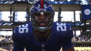 Madden 19 All Madden Gameplay | Giants vs Cowboys | PS4