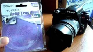 Bower 55MM HT55 Tulip Lens Hood Look/Review