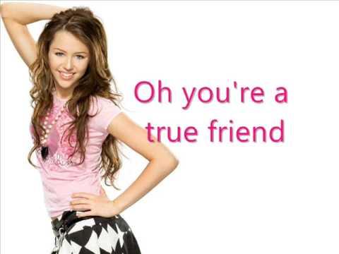 Miley Cyrus   Hannah Montana - True Friends - Karaoke video