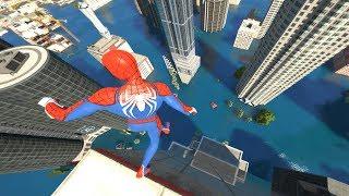 GTA 5 Water ragdolls | SPIDERMAN Jumps/Falls Compilation (Euphoria physics/Funny Moments)