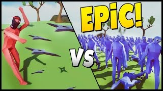 NINJA MASTER vs PEASANT ARMY! - Trump & His Wall vs Peasant Army - Totally Accurate Battle Simulator