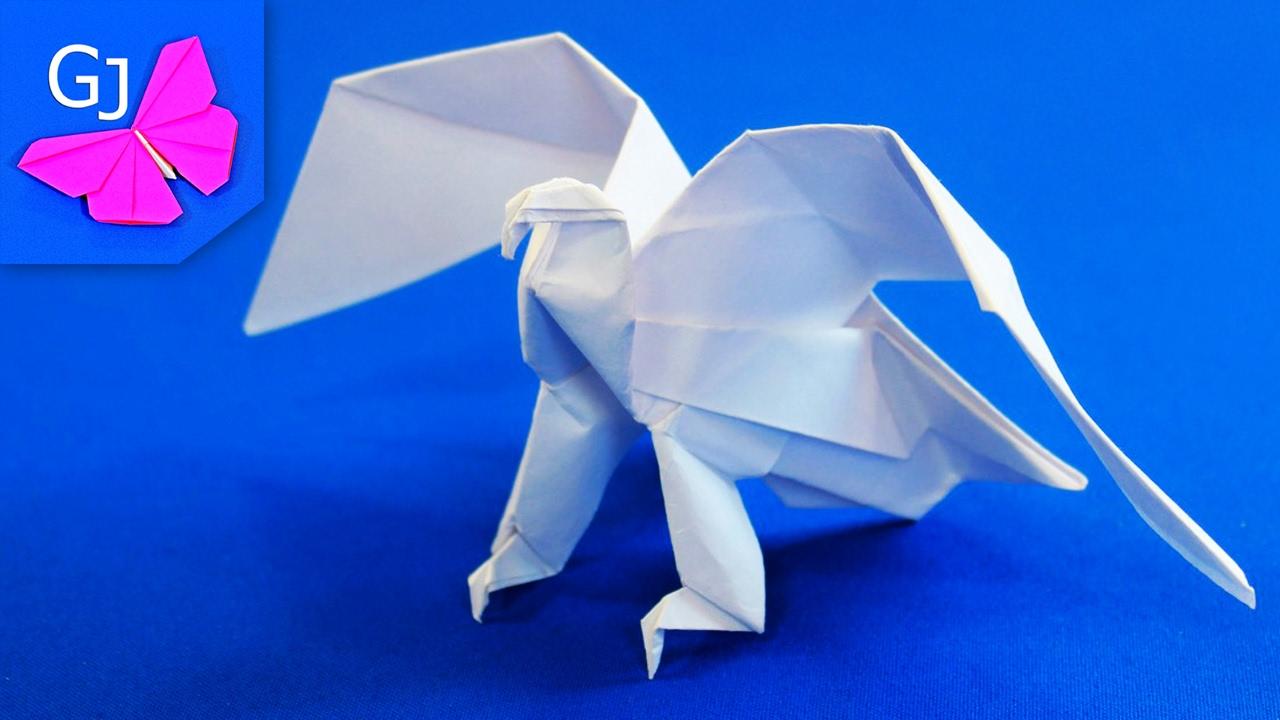 Как сделать оригами из бумаги орел