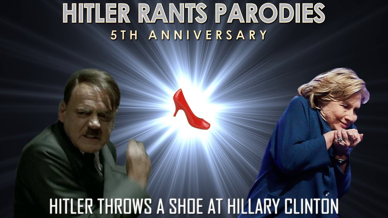 Hitler throws a shoe at Hillary Clinton