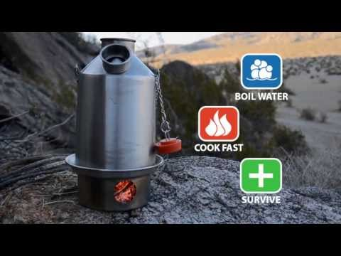 Kelly Kettle ® - Boil Water, Purify Water and Stay Alive with Natural Fuel
