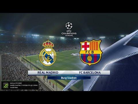 Pro Evolution Soccer 2016 PC GAMEPLAY FC Barcelona Vs Real Madrid (1080p 60fps)