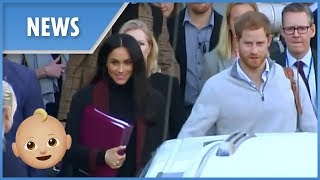 Pregnant Meghan Markle arrives in Australia with Prince Harry