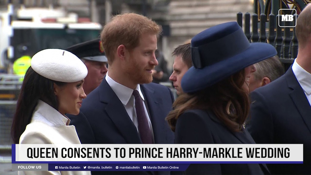 Queen consents to Prince Harry-Markle wedding