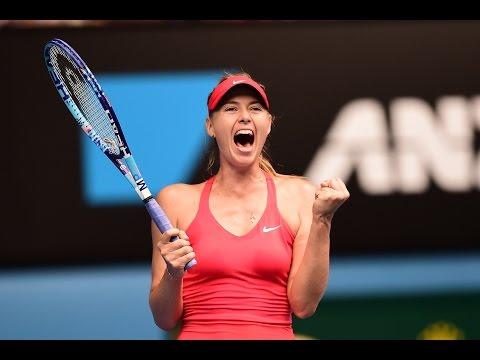Eugenie Bouchard v Maria Sharapova highlights (QF) - Australian Open 2015