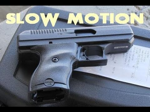 Hi-Point 9mm Pistol in Slow Motion (see the bullets!)