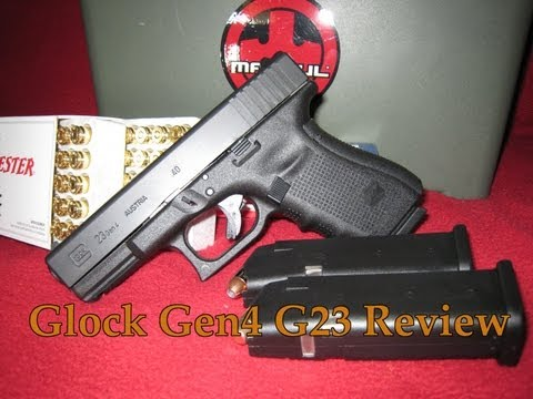 EXCLUSIVE! Generation 4 Glock 23 Review and Range Trip [HD]