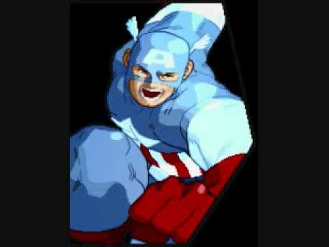 Marvel vs Capcom Theme of Captain America Video