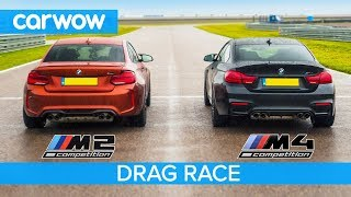 BMW M2 Comp vs M4 Comp - DRAG RACE, ROLLING RACE, TRACK BATTLE and DRIFT OFF