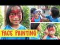 Lucu anak-anak corat-coret melukis wajah (Face Painting  bagian 1)