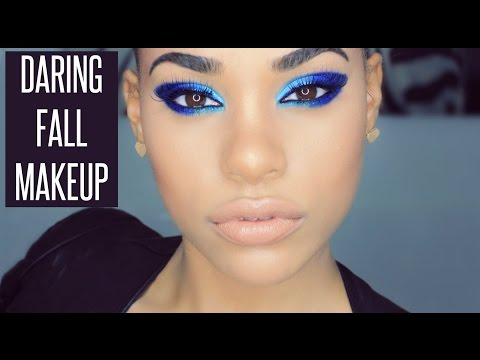 FALL MAKEUP - Ocean Blue Winged Eyes