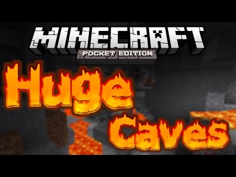 [0.9.0] HUGE CAVES- Minecraft Pocket Edition Seed Showcase