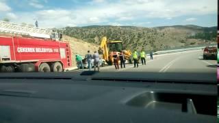Amasyadan Nevşehire gidişde trafik kazası