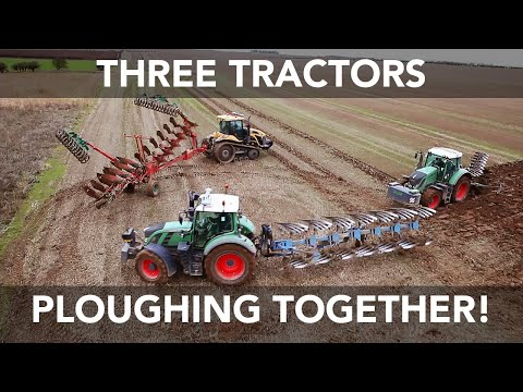 Following the success of our previous video (Two Fendt Tractors Tandem Ploughing), we decided to take it one step further. Here we have three tractors plough...