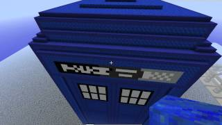 Minecraft Pixel Art: Doctor Who's the TARDIS (Time and Relative Dimensions in Space)