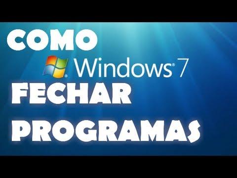 COMO FECHAR PROGRAMAS TRAVADOS NO WINDOWS 7
