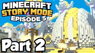 Minecraft: Story Mode [Episode 5] Part 2 - SKYBLOCK SKY CITY!!! (Full Gameplay)