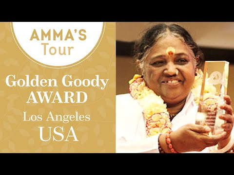 Golden Goody Award for Amritanandamayi Devi at Los Angeles