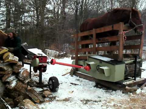 Horse powered  Treadmill, Woodsplitter