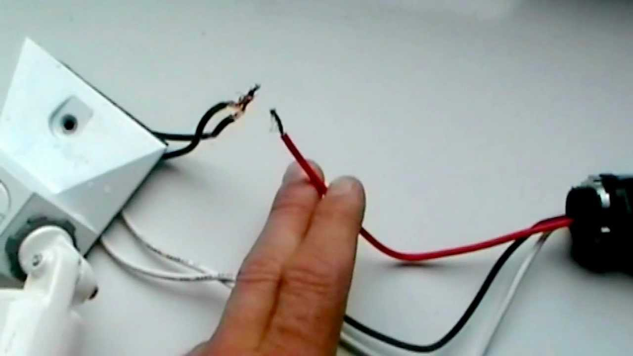 Wiring a Photo cell. (Dusk to Dawn) - YouTube