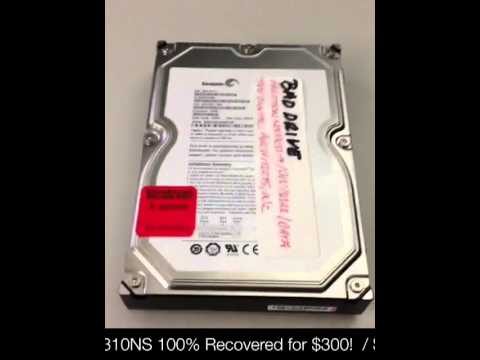 "$300 Data Recovery: $1500+ quote from data recovery company for ""clean room"" repair."