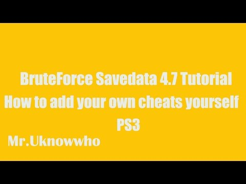 BruteForce Savedata 4.7 Tutorial *How to add cheats yourself*