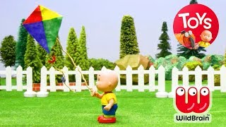 Caillou Cartoon For Kids | Caillou Learns To Fly A Kite | Stop Motion Series | Toy Store