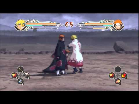 Naruto Ninja Storm Generations - Minato VS Pain